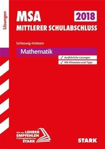 Mittlerer Schulabschluss Schleswig-Holstein - Mathematik Lösunge
