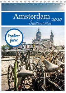 Amsterdam Stadtansichten (Tischkalender 2020 DIN A5 hoch)