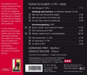 Schwanengesang,Gesänge des Harfners/+