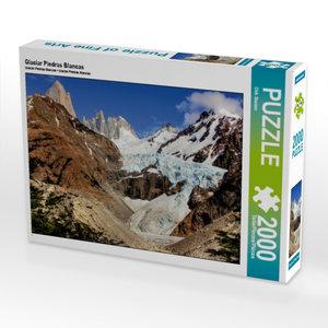 Glaciar Piedras Blancas 2000 Teile Puzzle quer