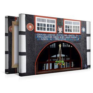 Premium Textil-Leinwand 45 cm x 30 cm quer Stadtbibliothek Blomb
