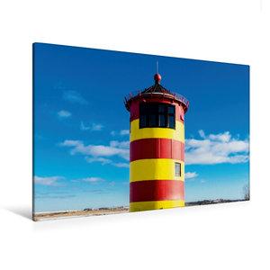 Premium Textil-Leinwand 120 cm x 80 cm quer Pilsumer Leuchtturm