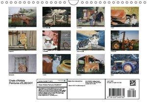 Chats d'Artiste Peintures d'Elisabeth BEGOT (Calendrier mural Ca