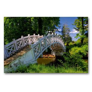 Premium Textil-Leinwand 90 cm x 60 cm quer Chinesische Brücke