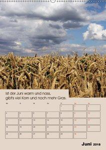 Wetter-Regeln der Bauern (Wandkalender 2018 DIN A2 hoch)