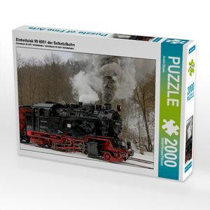 Einheitslok 99 6001 der Selketalbahn 2000 Teile Puzzle quer