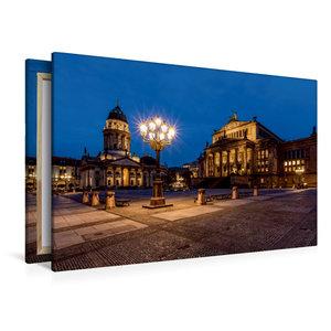 Premium Textil-Leinwand 120 cm x 80 cm quer Gendarmenmarkt