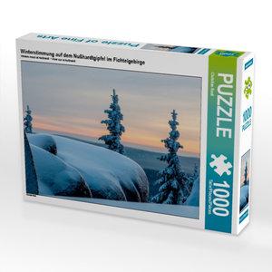 Winterstimmung auf dem Nußhardtgipfel im Fichtelgebirge 1000 Tei