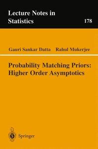 Probability Matching Priors: Higher Order Asymptotics