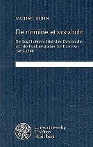 De nomine et vocabulo