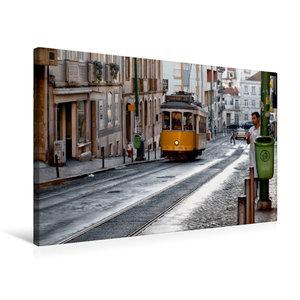 Premium Textil-Leinwand 75 cm x 50 cm quer Lissabon - Linie 21 -