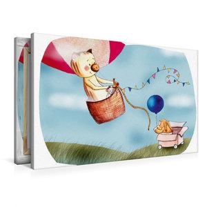 Premium Textil-Leinwand 90 cm x 60 cm quer Ballonfahren ist so a