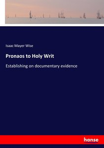 Pronaos to Holy Writ