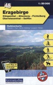 KuF Deutschland Outdoorkarte 48 Erzgebirge 1 : 50.000