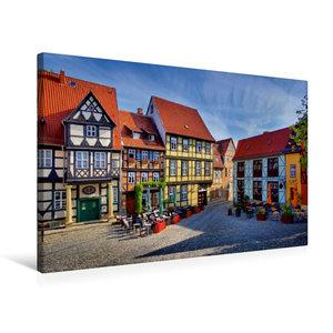 Premium Textil-Leinwand 75 cm x 50 cm quer Quedlinburg
