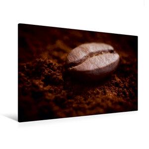 Premium Textil-Leinwand 120 cm x 80 cm quer Eine Kaffebohne lieg