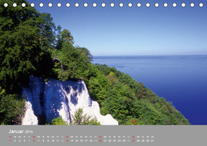 Blick auf die Nord-und Ostsee (Tischkalender 2019 DIN A5 quer)