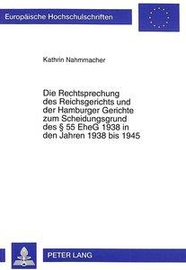 Die Rechtsprechung des Reichsgerichts und der Hamburger Gerichte