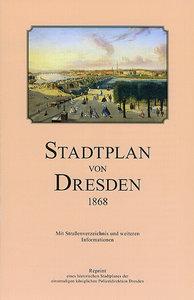 Stadtplan von Dresden 1868