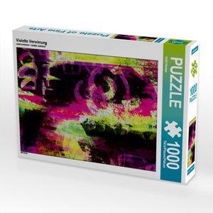 Violette Verwirrung 1000 Teile Puzzle quer