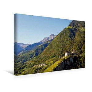 Premium Textil-Leinwand 45 cm x 30 cm quer Schloss Tirol