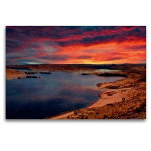 Premium Textil-Leinwand 120 cm x 80 cm quer Lake Powell