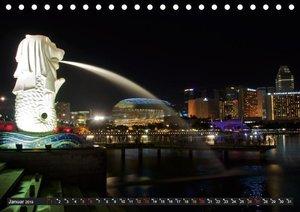 Singapur - Die Farben der Nacht (Tischkalender 2019 DIN A5 quer)