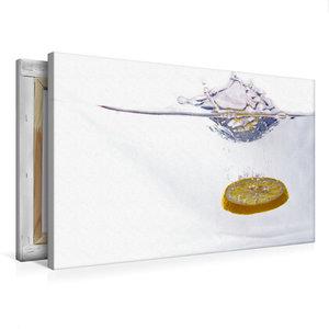 Premium Textil-Leinwand 75 cm x 50 cm quer Zitrone
