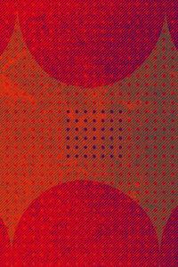 Premium Textil-Leinwand 60 cm x 90 cm hoch Punkte und Quadrat, R