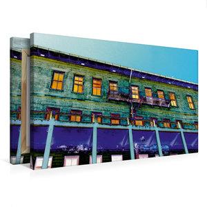 Premium Textil-Leinwand 75 cm x 50 cm quer Außenansicht Gebäude