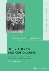 Gouverner en Belgique occupée