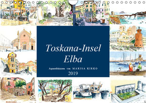 Toskana-Insel Elba - Aquarellskizzen