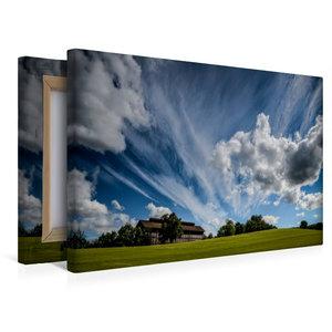 Premium Textil-Leinwand 45 cm x 30 cm quer Wolken ziehen über da