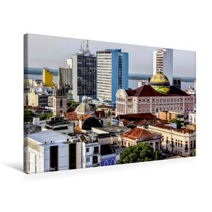 Premium Textil-Leinwand 75 cm x 50 cm quer Teatro Amazonas Mana