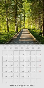 Finland - Land of a Thousand Lakes (Wall Calendar 2018 300 × 300