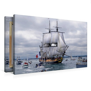 Premium Textil-Leinwand 75 cm x 50 cm quer Het fregat Hermione i
