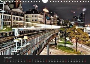 hamburg - night views (Wandkalender 2019 DIN A4 quer)