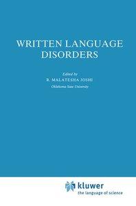 Written Language Disorders