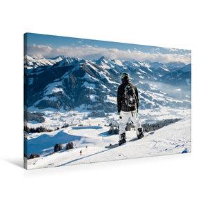 Premium Textil-Leinwand 90 cm x 60 cm quer Wilder Kaiser