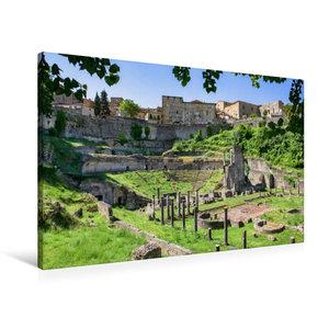Premium Textil-Leinwand 90 cm x 60 cm quer Volterra: Der Bau des