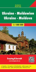 Ukraine. Moldawien 1 : 1 000 000. Autokarte
