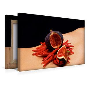 Premium Textil-Leinwand 45 cm x 30 cm quer Chili - Feige
