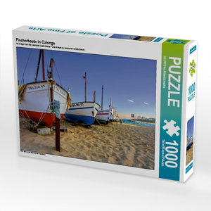 Fischerboote in Calonge 1000 Teile Puzzle quer