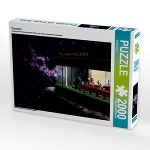 Travelers 2000 Teile Puzzle quer
