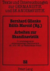 Arbeiten zur Skandinavistik