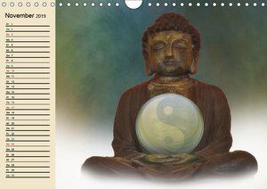Buddha und Yin Yang (Wandkalender 2019 DIN A4 quer)
