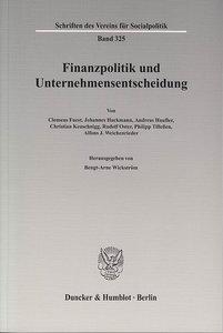Finanzpolitik und Unternehmensentscheidung