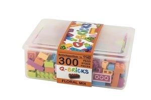Bausteine Mix Box 300 Teile in Floral Farben in praktischer Aufb