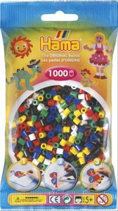 Hama 207-66 - Perlen Mix, 1000 Stück, 6 Farben, Farbmix