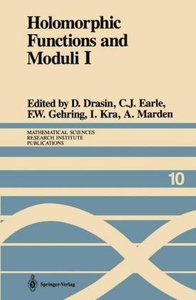 Holomorphic Functions and Moduli I